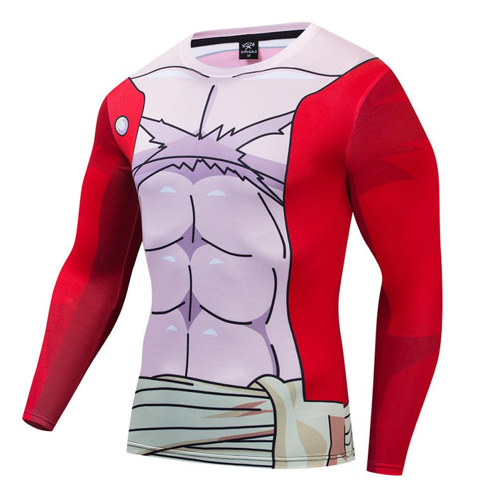 One Piece Compression 'Luffy' Premium Long Sleeve Rashguard