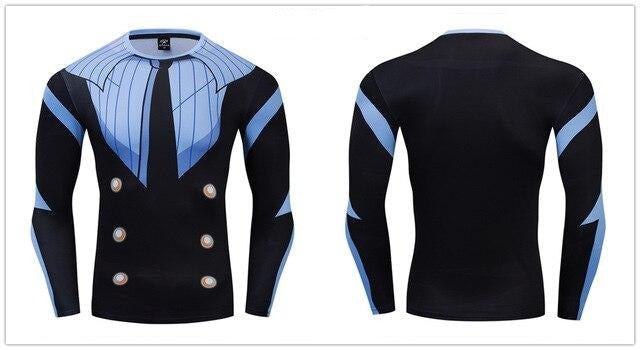 One Piece Compression 'Sanji' Premium Long Sleeve Rashguard