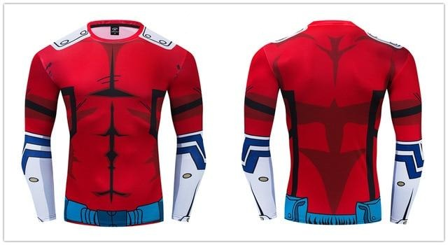 My Hero Academia Compression 'Deku | Red' Premium Long Sleeve RashGuard