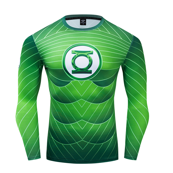 Green Lantern Compression 'Comic' Premium Long Sleeve Rashguard