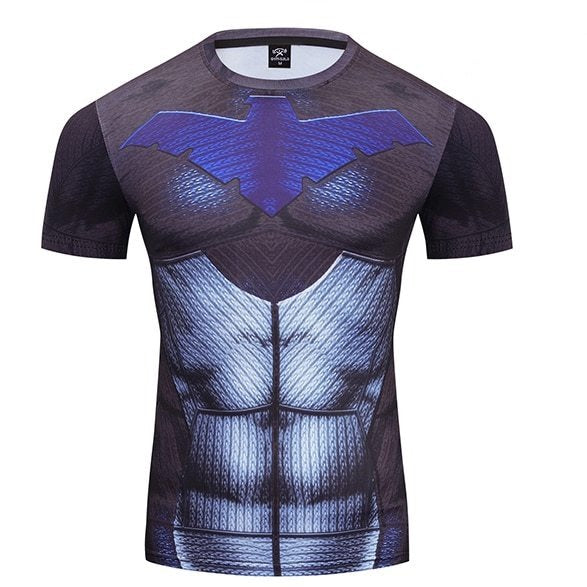 Nightwing Compression 'Young Justice | 2.0' Premium Short Sleeve Rashguard