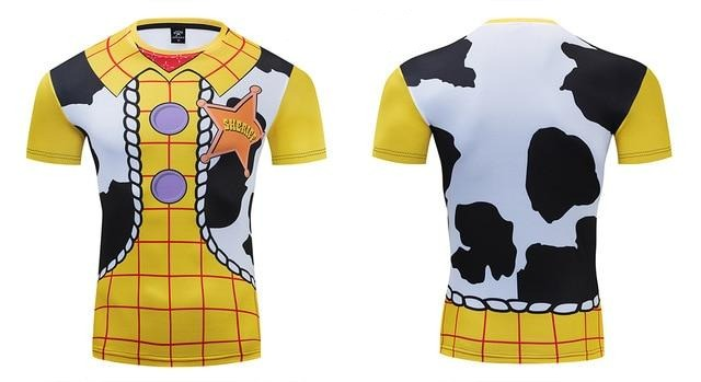 Toy Story Compression 'Woody' Premium Short Sleeve Rashguard