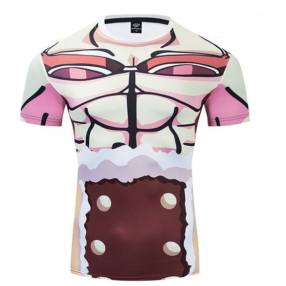 One Piece Compression 'Usopp' Premium Short Sleeve Rashguard