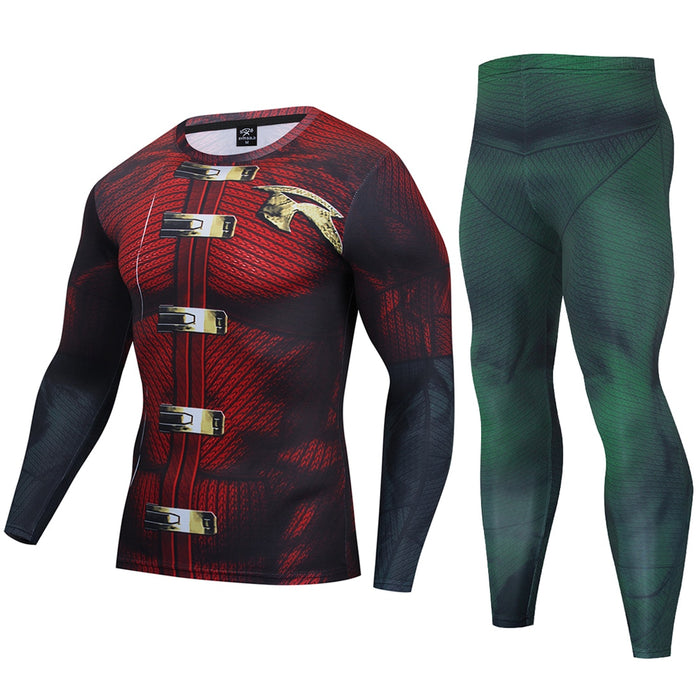 Robin Compression 'Tim Drake | Arkham Knight' Premium Long Sleeve Rashguard Set