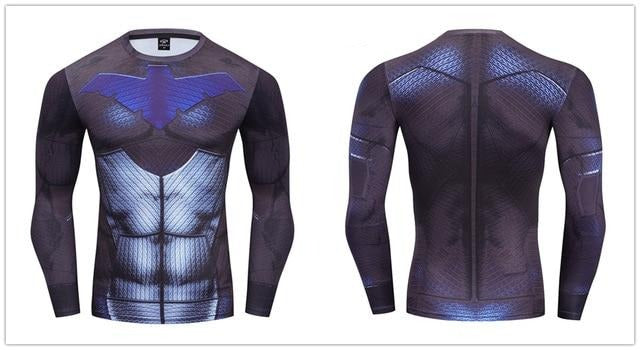 Nightwing Compression 'Young Justice | 2.0' Premium Long Sleeve Rashguard