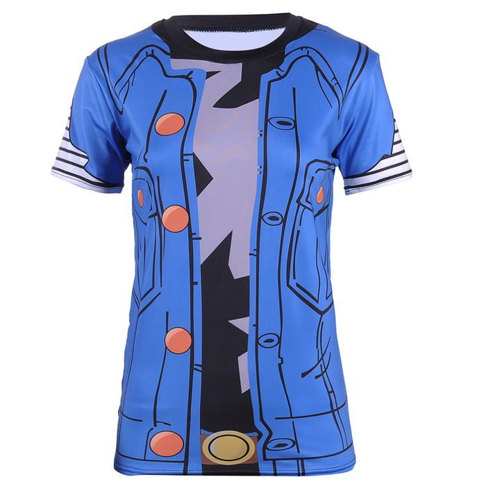 Women's Dragon Ball Z Compression 'Lapis | Lazuli | Android 18' Short Sleeve Rashguard