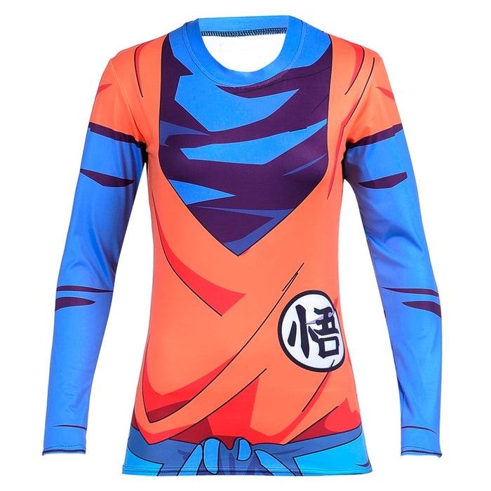 Women's Dragon Ball Z Compression 'Goku' Long Sleeve Rashguard