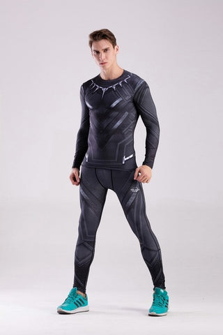 Men's Panther Elite Compression Long Sleeve Rashguard Set