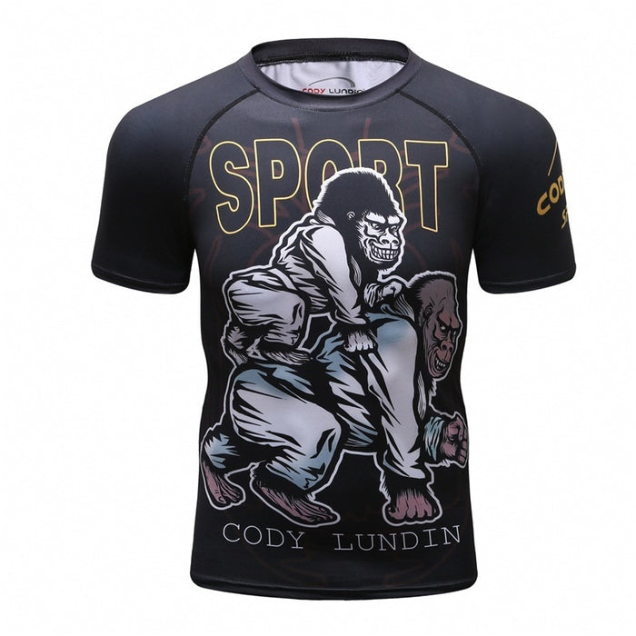 Gorilla Compression 'Get the Back' Elite Short Sleeve Rashguard