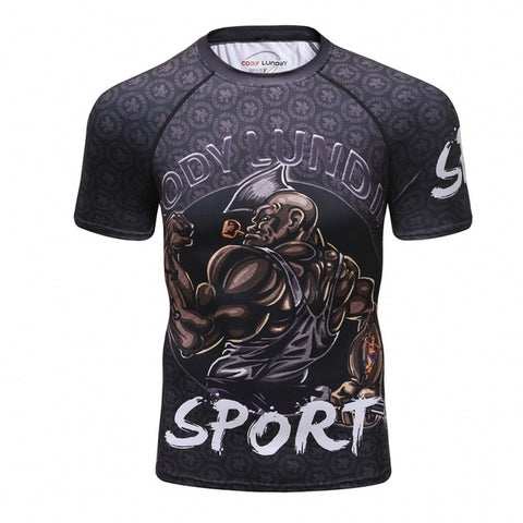 Warrior Compression 'My Ship' Elite Short Sleeve Rashguard