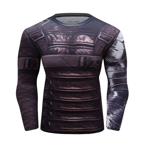 Buck 'Winter Soldier | Wakanda' Compression Elite Long Sleeve Rashguard