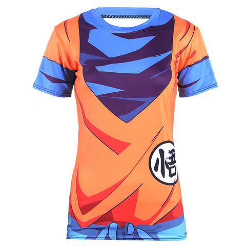 Women's Dragon Ball Z Compression 'Goku' Short Sleeve Rashguard