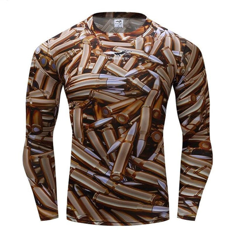 Camouflage Compression 'Bullets Camo' Long Sleeve Rashguard