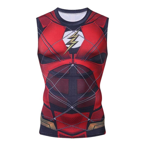 The Flash Compression 'Justice League' Tank Top