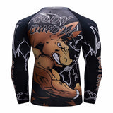 Stallion Horse Compression 'Get in the Ring' Elite Long Sleeve Rashguard