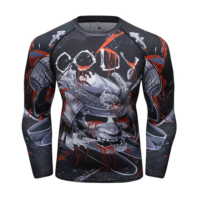 Samurai Compression 'Blood War' Elite Long Sleeve Rashguard
