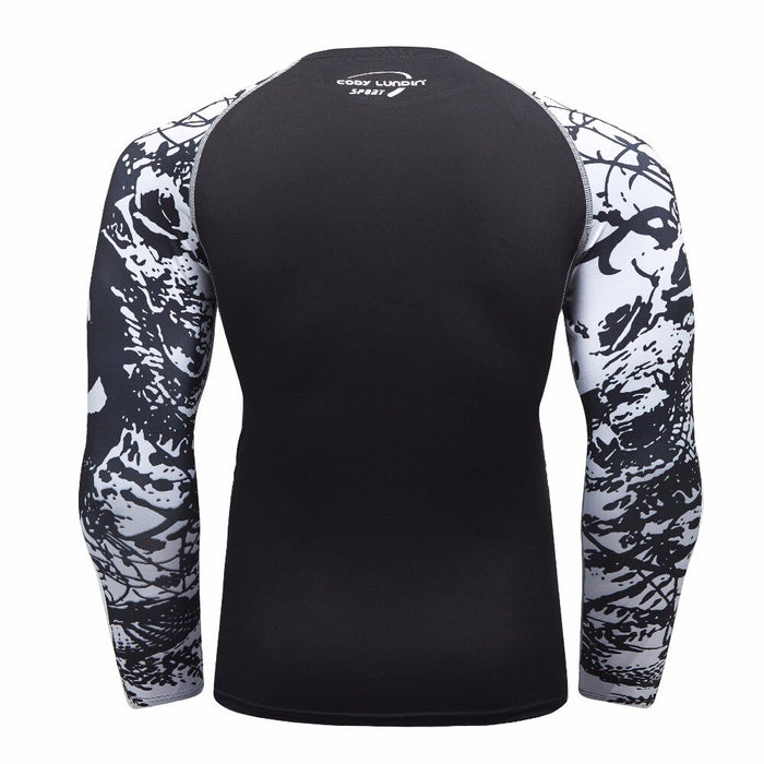 Skull Compression 'Catacombs' Elite Long Sleeve Rashguard
