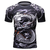 Dragon Compression 'Silver Dragon' Elite Short Sleeve Rashguard