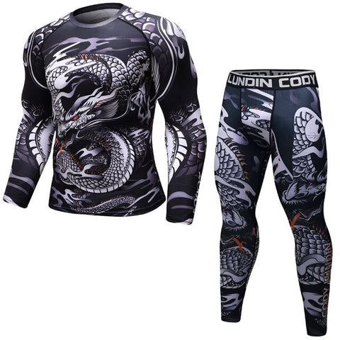 Dragon 'Silver Dragon' Elite Compression Long Sleeve Set
