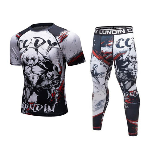 Panda 'Pumped' Elite Compression Short Sleeve Set