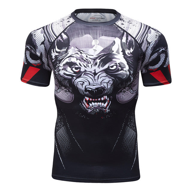 Wolf Compression 'Prey' Elite Short Sleeve Rashguard