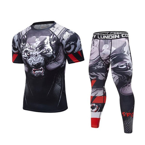 Wolf 'Prey' Elite Compression Short Sleeve Set