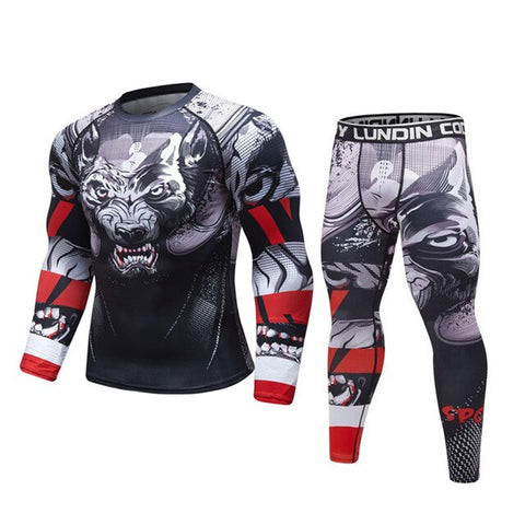 Wolf 'Prey' Elite Compression Long Sleeve Set