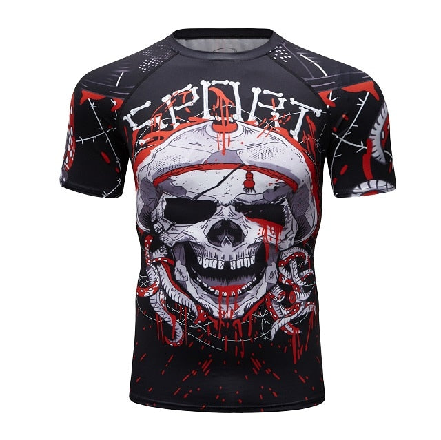 Skull Compression 'Kraken' Elite Short Sleeve Rashguard