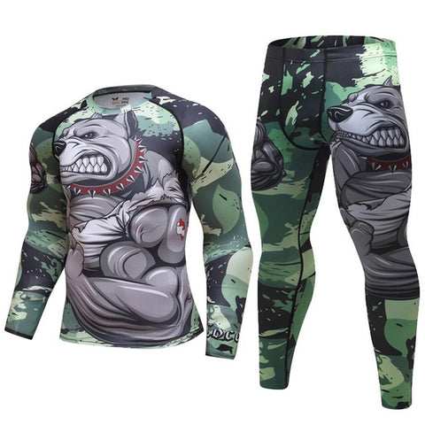 Pit Bull Compression Elite Long Sleeve Rashguard Set