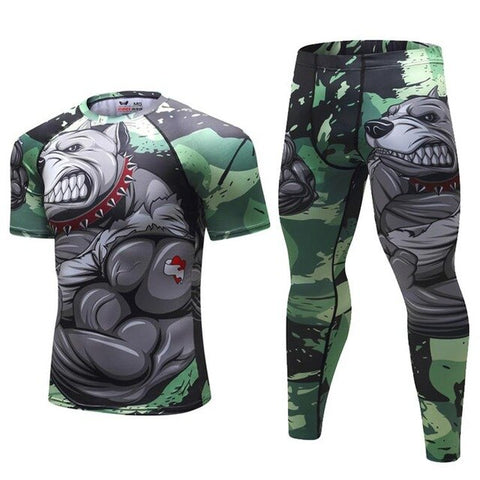 Pit Bull Compression Elite Short Sleeve Rashguard Set
