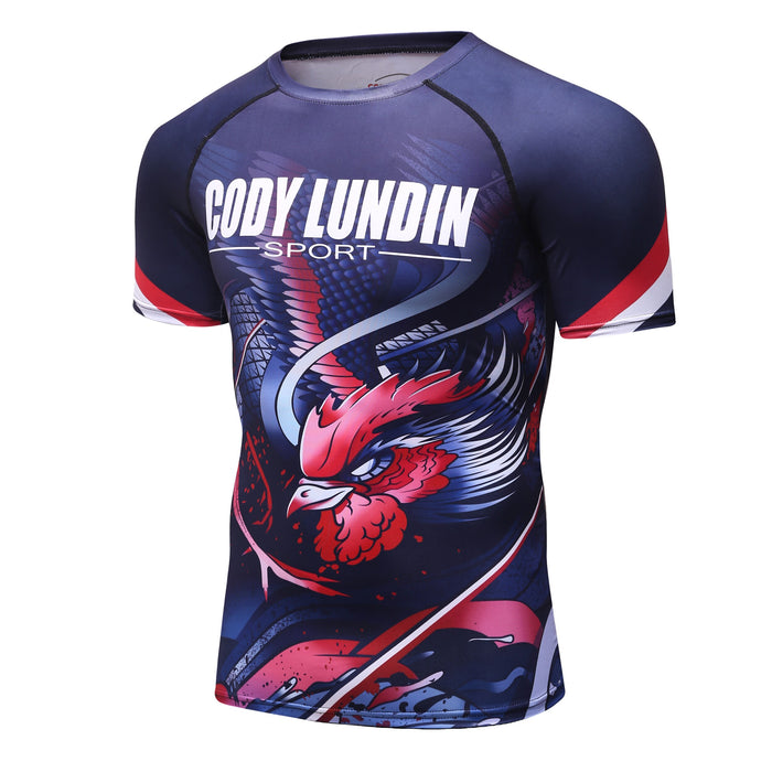 Phoenix Compression 'Bird of Prey' Elite Short Sleeve Rashguard