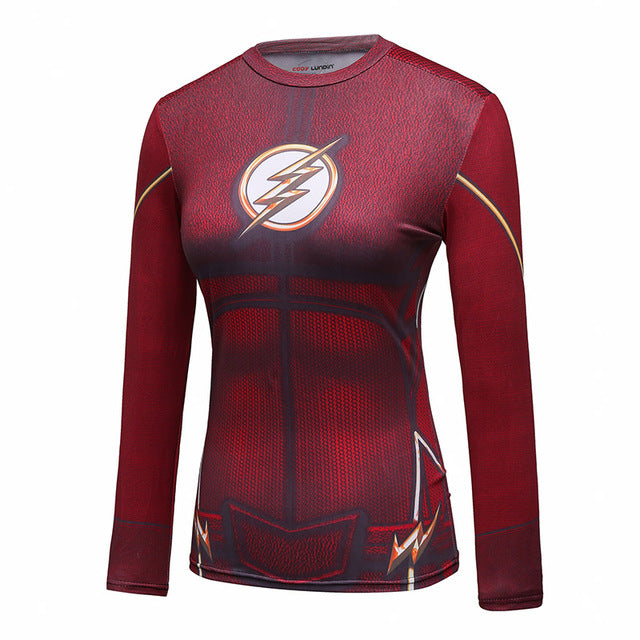 Women's The Flash Compression Elite Long Sleeve Rashguard