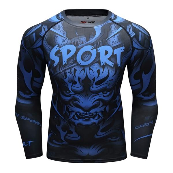 Dragon Compression 'Blue' Elite Long Sleeve Rashguard