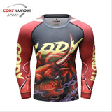 Bull Compression 'Chains' Elite Long Sleeve Rashguard