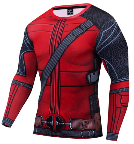 "Deadpool Compression ""Merc with a Mouth"" Long Sleeve Rashguard"