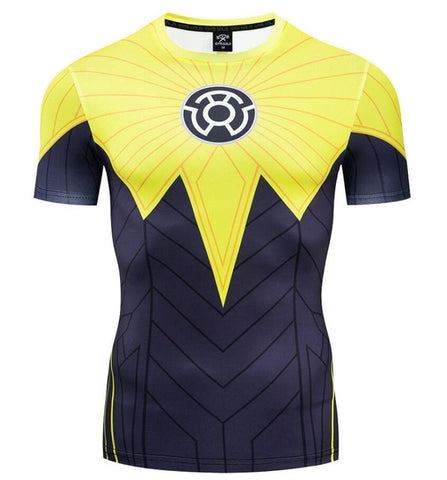 Green Lantern Sinestro Compression 'Comic' Short Sleeve Rashguard