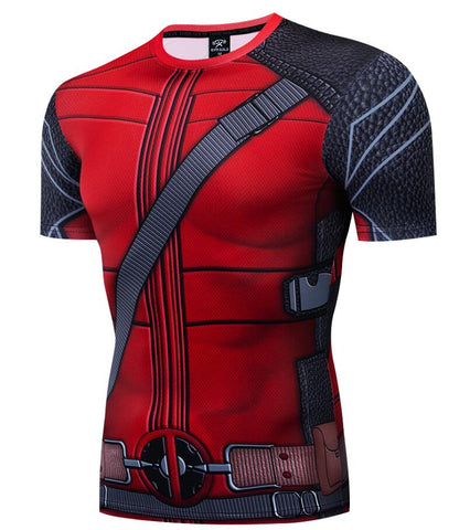 Deadpool Compression 'Merc with a Mouth' Short Sleeve Compression Rashguard