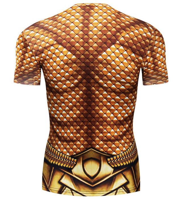 Aquaman Compression Premium Short Sleeve Rashguard