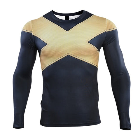Men's X Mutant Compression 'Dark Phoenix' Long Sleeve Rashguard