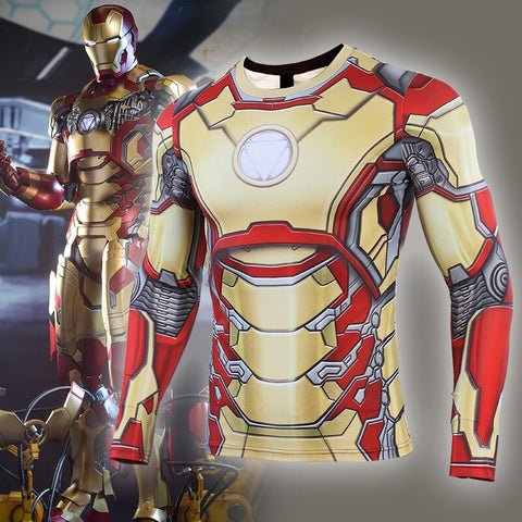 Iron Man Compression 'MK 42' Long Sleeve Rashguard