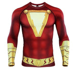 Shazam Long Sleeve Compression Rash Guard-RashGuardStore