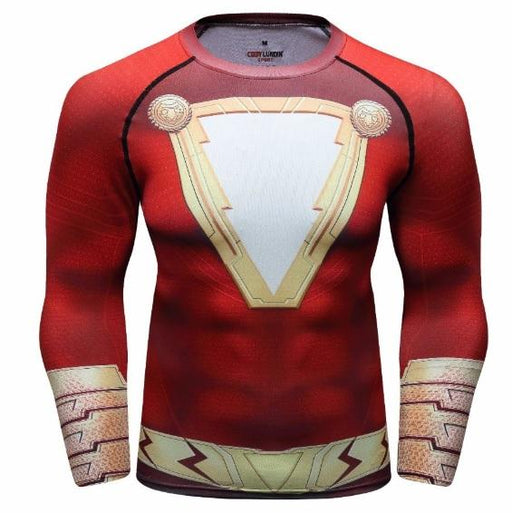 Shazam Premium Long Sleeve Compression Rash Guard-RashGuardStore
