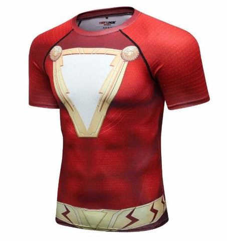 Shazam Premium Short Sleeve Compression Rash Guard-RashGuardStore
