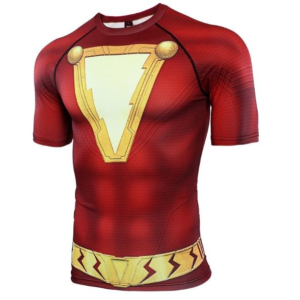 Shazam Short Sleeve Compression Rash Guard-RashGuardStore