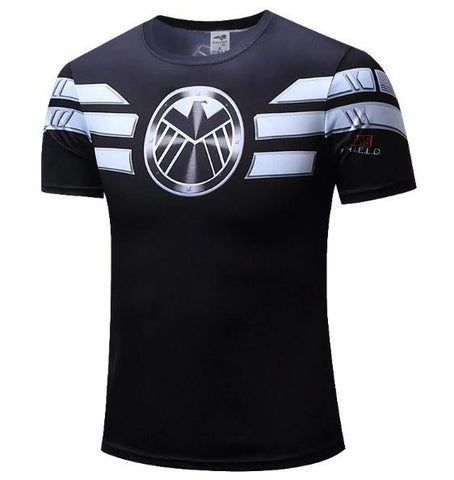 Shield Compression Short Sleeve Rashguard-RashGuardStore