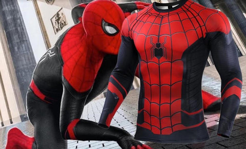 Spiderman 'Far From Home' Compression Long Sleeve Rashguard-RashGuardStore