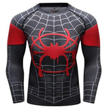 Spiderman 'Into The Spiderverse' Miles Morales Premium Compression Long Sleeve Rashguard-RashGuardStore