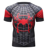Spiderman 'Into The Spiderverse' Miles Morales Premium Compression Short Sleeve Rashguard-RashGuardStore