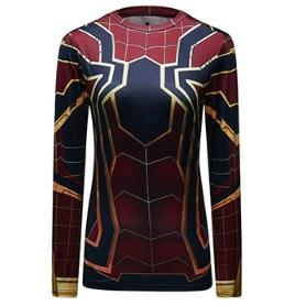 "Spiderman ""Iron Spider"" Women's Compression Long Sleeve Rashguard-RashGuardStore"