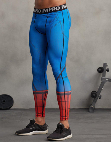 Spiderman Men'S Compression Leggings Grappling Spats-RashGuardStore